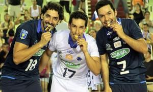 A equipe mineira de vôlei do Sada Cruzeiro conquista Copa do Brasil