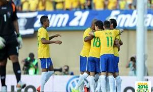 Seleção Brasileira vence de goleada o Panamá por 4 x 0 no amistoso em Goiânia.