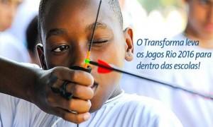 Programa Transforma leva os Jogos Olímpicos e Paralímpicos Rio 2016 para dentro das escolas mineiras.