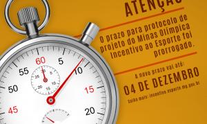Prorrogado até 4 de dezembro o prazo para postagem do formulário do Minas Olímpica Incentivo ao Esporte