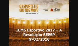 Módulo 5: Pontuação (Novas Regras do ICMS Esportivo em 2017)