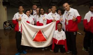 No aquecimento para as competições, alunos-atletas mineiros participam da abertura das Paralimpíadas Escolares