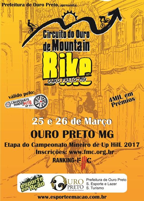Circuito do Ouro de Mountain Bike 2017 e Desafio das Ladeiras – Mineiro de UP Hill