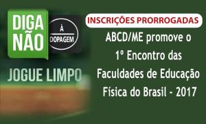 ABCD/ME promove o 1º Encontro das Faculdades de Educação Física do Brasil – 2017. Inscrições até 28 de abril