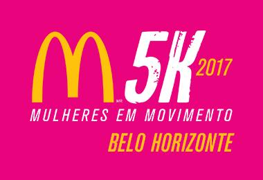 Corrida e Caminhada Feminina McDonald's 5K 2017 - Belo Horizonte