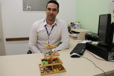 Marcus Ávila, nutricionista do Minas, proíbe os atletas de comerem alimentos com muito açúcar ou sódio. Foto: Felippe Drummond