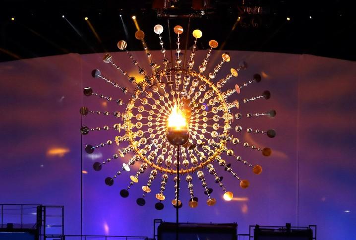Pira Olímpica na abertura dos Jogos Olímpicos Rio 2016 - Foto: Reprodução globoesporte.com