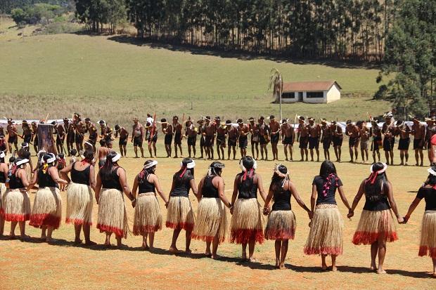articipam dos Jogos, indígenas com idade a partir dos 15 anos, de 11 etnias de todo o estado. (Foto: Elian Oliveira/ACS/SEEMG)