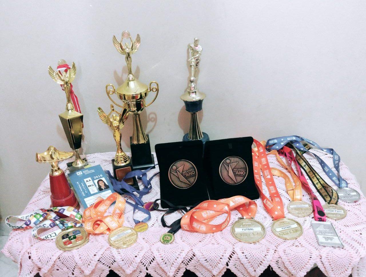 Orgulhosa de suas conquistas, Melhores do Ano é a inspiração da atleta para continuar seguindo seus sonhos Foto: acervo pessoal