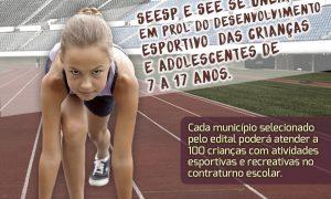 Publicado edital para seleção de municípios que queiram executar o Geração Esporte