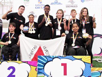 A equipe de Minas Gerais foi campeã geral do tênis de mesa nas Paralimpíadas Escolares. Foto: Renata Silva/SEESP