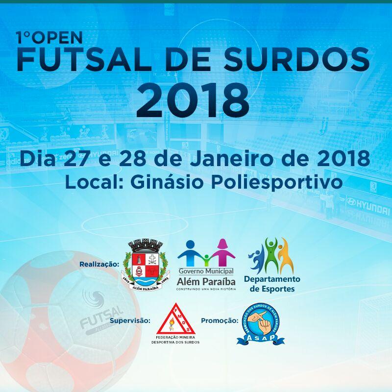 I° OPEN DE FUTSAL DE SURDOS DA FMDS 2018