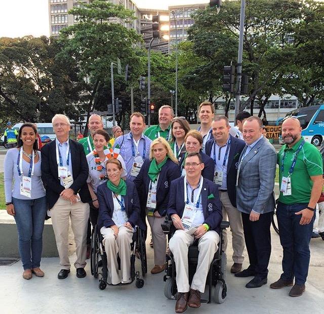 Tatiana com representantes da delegação irlandesa. Foto: acervo pessoal