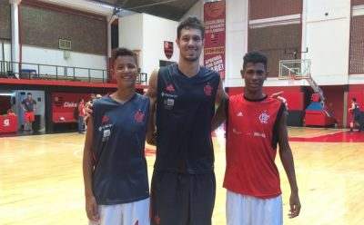 João, Rafael Mineiro e Richard treinando no Flamengo (Foto: Clube de Regatas do Flamengo/Divulgação)