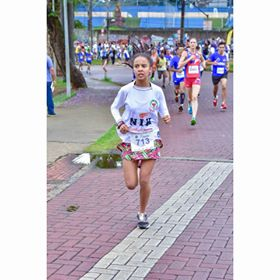 Livya Kezia, 15 anos e atleta do atletismo