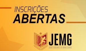 Estão abertas as inscrições para o JEMG 2018