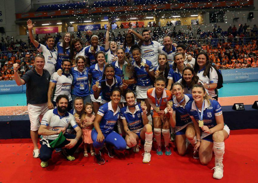 Camponesa/Minas vence o Sesc-RJ e é tricampeã sul-americana (Foto: Orlando Bento/Minas Tênis Clube)