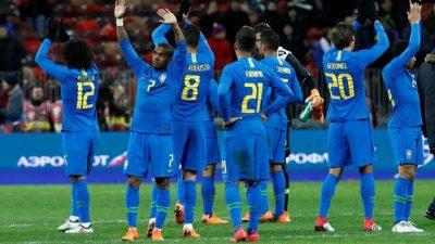 Seleção encontrou algumas dificuldades, mas venceu a Rússia em amistoso nesta sexta-feira (23). (Foto: Reprodução/Globoesporte)