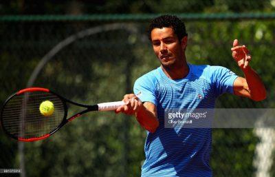 André Sá no French Open, em 2017.