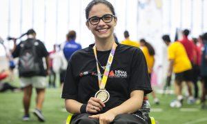 Atleta mineira do tênis de mesa paralímpico participa de treinamentos no Centro Paralímpico Brasileiro, em São Paulo