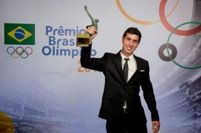 Caio Bonfim foi escolhido o Atleta da Torcida com 46% dos votos (Alexandre Loureiro/Exemplus/COB)