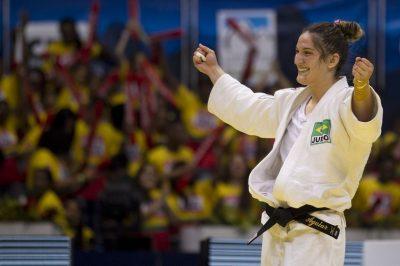 Judoca Mayara Aguiar recebeu o benefício durante todo o último ciclo olímpico. Foto: Márcio Rodrigues/MPIX