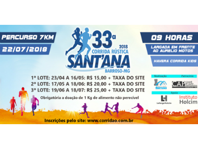 33ª Corrida Rústica de Sant'Ana