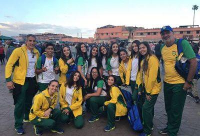 Delegação brasileira chega aos poucos em Marrocos Foto: CBDE