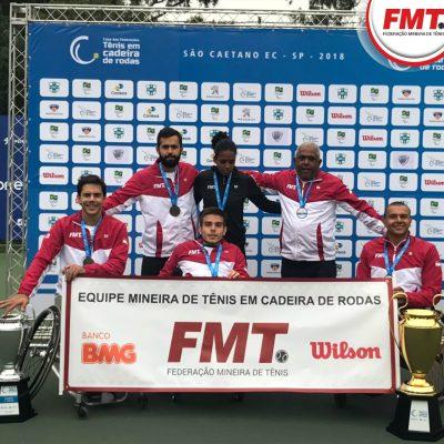 Delegação mineira campeã do torneio. Foto: Federação Mineira de Tênis
