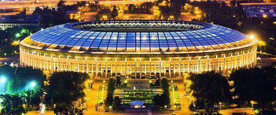 Estadio Luzhniki - palco da abertura e da final da Copa Foto: Pinterest