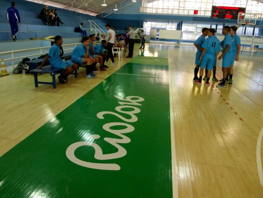 Microrregional do JEMG passou por quadra de treino da Rio 2016. Crédito: Divulgação EPCAR