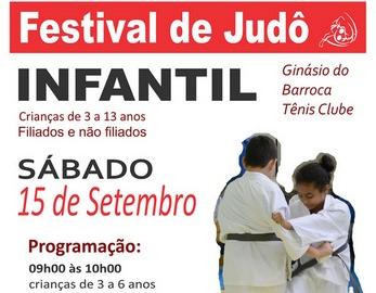 Festival de Judô Infantil no Ginásio do Barroca