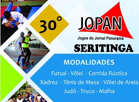 30º JOPAN - JOGOS DO JORNAL PANORAMA EM SERITINGA