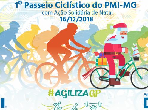 AgilizaGP: 1º Passeio Ciclístico do PMI-MG com Ação Solidária de Natal