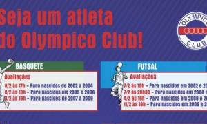 Participe da Seletiva de Atletas do Olympico Club!