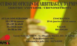 Federação Mineira de Futsal promove Curso de Oficiais de Arbitragem