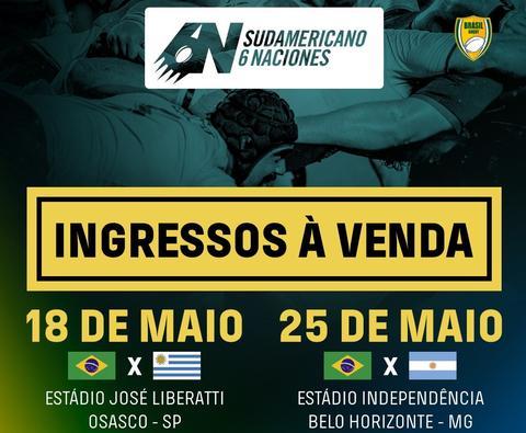 Brasil x Uruguai - Sul-Americano 6 Naciones