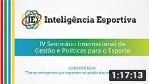 IV SIGPE | Conferência: Temas emergentes que impactam na gestão das entidades esportivas