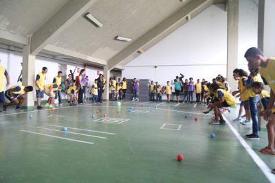 Bocha foi uma das atividades disponíveis no Festival. Foto: Rafael Souza/Prefeitura de Três Corações