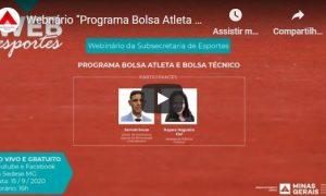 """Webnário """"Programa Bolsa Atleta e Bolsa Técnico"""""""