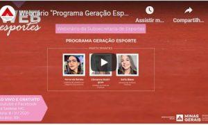 """Webnário """"Programa Geração Esporte"""""""