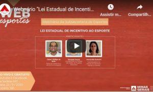 """Webnário """"Lei Estadual de Incentivo ao Esporte"""""""
