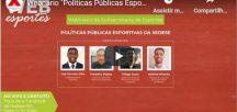 """Webnário """"Políticas Públicas Esportivas da Sedese"""""""