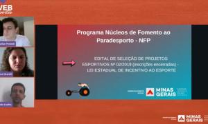 Webnário Núcleo de Fomento ao paradesporto do estado de Minas Gerais