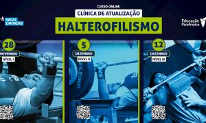 Comitê Paralímpico Brasileiro disponibiliza clínicas online para atualização de profissionais que trabalham com halterofilismo, natação e atletismo